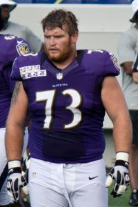 Marshall Yanda is widely considered a top-NFL lineman, and will lead an offensive line that should be a strength for the 2015 Baltimore Ravens.